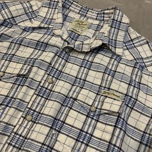 Lucky brand button flannel